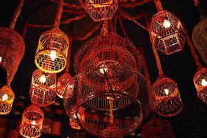 Tacky but cool lights at the entry way of Hot Joy.