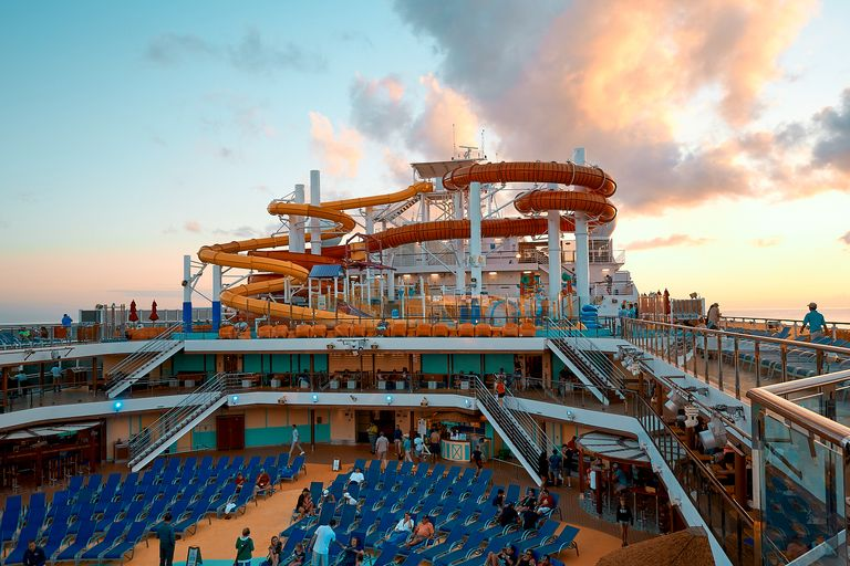 Sunset on a Carnival Cruise Ship