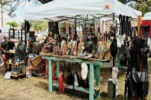 Lots of colors at the festival in Bandera!